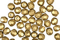 Czech Fire Polished Glass Matte Metallic Aztec Gold Round 4mm