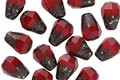 Czech Glass Ruby Picasso Faceted Drop 8x6mm
