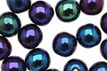 Czech Glass Iris Blue Round 8mm