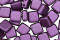 CzechMates Glass Pearl Coat Purple Velvet 2-Hole Tile 6mm