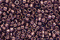 TOHO Aiko Gold Lustered Transparent Amethyst Precision Cylinder 11/0 Seed Bead