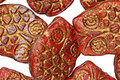 Czech Glass Bronzed Blood Orange Retro Owl 18x15mm