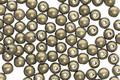 Czech Glass Gold Metallic Suede Round Druk 3mm