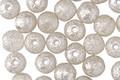 Czech Glass Crystal w/ Etched Mercury Round Druk 6mm