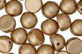 CzechMates Matte Metallic Flax 2-Hole Cabochon 7mm