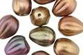 Czech Glass Autumn Metallics Melon Teardrop 11x9mm