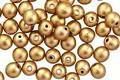 Czech Glass Matte Gold Round Druk 4mm