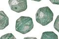 Czech Glass Beach Glass w/ Mercury Luster English Cut Bead 8x10mm