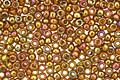 TOHO Gold Lustered Dark Topaz Round 15/0 Seed Bead