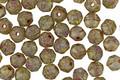 Czech Glass Pale Artichoke Picasso English Cut Bead 4mm