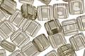 CzechMates Glass Black Diamond 2-Hole Tile 6mm