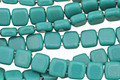 CzechMates Glass Persian Turquoise 2-Hole Tile 6mm