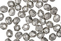 Czech Fire Polished Glass Metallic Antique Silver Round 4mm