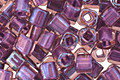 TOHO Rainbow Rosaline (with Opaque Purple Lining) Cube 3mm Seed Bead