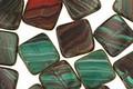 Czech Glass Emerald Oasis Square 9mm