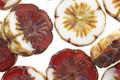Czech Glass Raspberry Marshmallow Hibiscus Coin 15mm