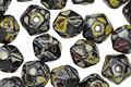 Czech Glass Dark Garden English Cut Bead 6x8mm