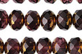 Czech Glass Royal Purple w/ Gold Fire Polished Rondelle 6x8mm