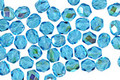 Czech Fire Polished Glass Aquamarine AB Round 4mm