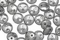 CzechMates Glass Silver 2-Hole Lentil 6mm
