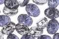 Czech Glass Metallic Cobalt & 1/2 Silver Domed 2-Hole Oval 6.5x8mm