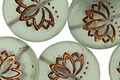 Czech Glass Matte Bronzed Sea Salt Lotus Coin 18mm