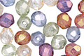 Czech Fire Polished Glass Luster Mix Round 6mm