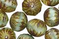 Czech Glass Mint Julep Silk Picasso Cruller 10x11mm