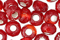 Czech Glass Pomegranate Large Hole Fire Polished Rondelle 6x9mm