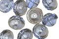 Czech Glass Light Sapphire w/ Silver Luster UFO 8x10mm
