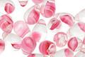 Czech Glass Crystal/Pink Teardrop 6x9mm