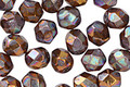 Czech Fire Polished Iris Brown Lustered Topaz Round 6mm