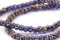 Czech Glass Bronzed Sapphire Trica Beads 2.5x4mm
