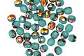 Czech Glass Blue Turquoise Metallic AB Fire Polished Round 3mm