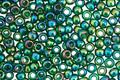TOHO Transparent Rainbow Green Emerald Round 8/0 Seed Bead