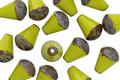 Czech Glass Chartreuse Drop w/ Picasso Bottom 8x6mm