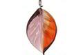 Czech Glass Grape Harvest Twisted Leaf Drop 14x23mm