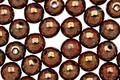 Czech Glass Dark Opaque Red Bronze Picasso Round 6mm