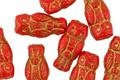 Czech Glass Ruby Red w/ Gold Wash Owl 15x7mm