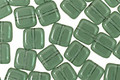 Czech Glass Prairie Green Square 6mm
