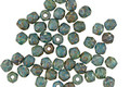Czech Glass Blue Turquoise Picasso Fire Polished Round 3mm