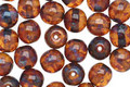 Czech Glass Smoky Topaz Picasso Round Druk 6mm