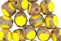 Czech Glass Lemon Picasso Trica Beads 8x7mm