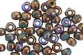 Czech Glass Bronzed Deep Sea Trica Beads 3x4mm