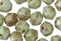 Czech Glass Mint Green w/Bronze Luster English Cut Bead 6x8mm
