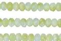 Czech Glass Peruvian Green Opal Fire Polished Rondelle 3x5mm