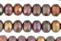 Czech Glass Autumn Metallics Fire Polished Rondelle 5x7mm