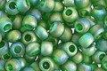 TOHO Transparent Rainbow Frosted Grass Green Round 8/0 Seed Bead