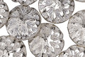 Czech Glass Antique Silver Dahlia Coin 14mm