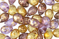 Czech Glass Royal w/ Gold Marble Teardrop 5x7mm